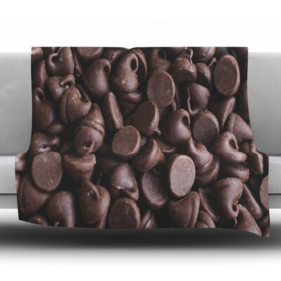 Yay! Chocolate by Libertad Leal Fleece Throw Blanket Size: 60 H x 50 W x 1 D