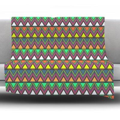 Pattern Play by Nandita Singh Fleece Throw Blanket Size: 80 H x 60 W x 1 D