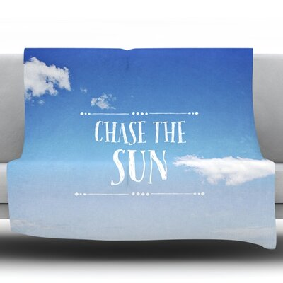 Chase the Sun by Susannah Tucker Fleece Throw Blanket Size: 40 H x 30 W x 1 D