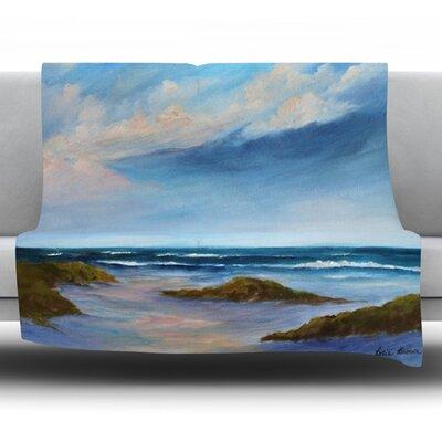Wet Sand by Rosie Fleece Throw Blanket Size: 40 H x 30 W x 1 D