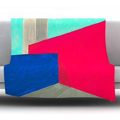 Corner by Oriana Cordero Fleece Throw Blanket Size: 80 H x 60 W x 1 D