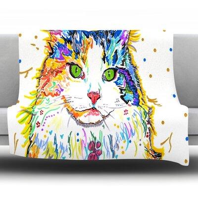 Royal by Rebecca Fischer Fleece Throw Blanket Size: 90 H x 90 W x 1 D