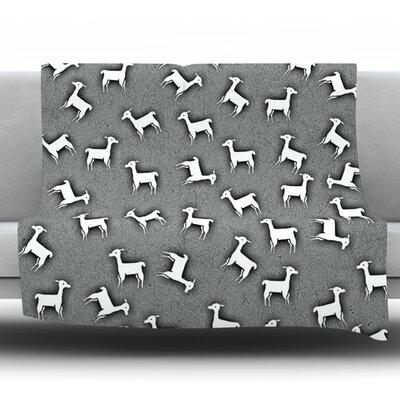 Llama Multi by Monika Strigel Fleece Throw Blanket Size: 80 H x 60 W x 1 D