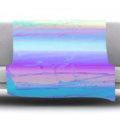Drip Dye Cool by Nina May Fleece Throw Blanket Size: 40 H x 30 W x 1 D