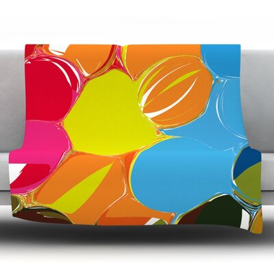 Bubbles by Matthias Hennig Fleece Throw Blanket Size: 60 H x 50 W x 1 D