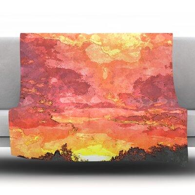 Horizon by Oriana Cordero Fleece Throw Blanket Size: 90 H x 90 W x 1 D