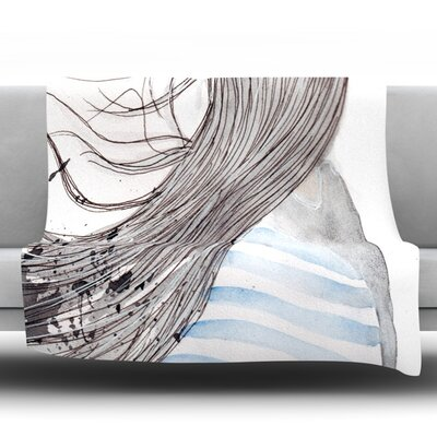 Breeze by Louise Fleece Throw Blanket Size: 60 H x 50 W x 1 D