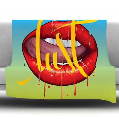 Lust by Roberlan Fleece Throw Blanket Size: 60 H x 50 W x 1 D