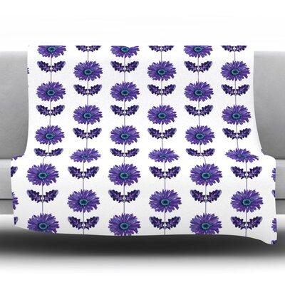 Gerbera by Laura Escalante Fleece Throw Blanket Color: Purple, Size: 80 H x 60 W x 1 D