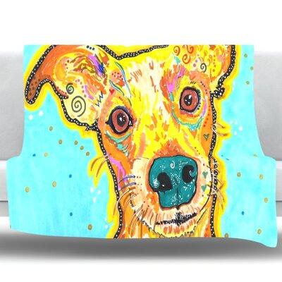 Tanner by Rebecca Fischer Fleece Throw Blanket Size: 40 H x 30 W x 1 D