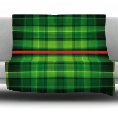 Tartan by Matthias Hennig Micro Fiber Fleece Throw Blanket Size: 90 H x 90 W x 1 D