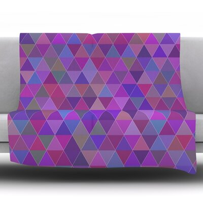 Abstract by Louise Fleece Throw Blanket Size: 40 H x 30 W x 1 D