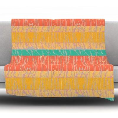 Desert Splatter by Nina May Fleece Throw Blanket Size: 80 H x 60 W x 1 D
