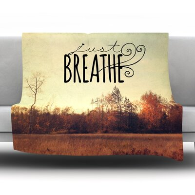 Just Breathe by Sylvia Cook Fleece Throw Blanket Size: 90 H x 90 W x 1 D