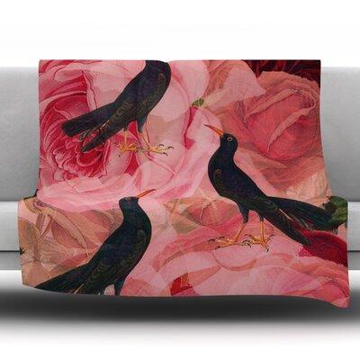 Song Bird Cush by Suzanne Carter Fleece Throw Blanket Size: 90 H x 90 W x 1 D