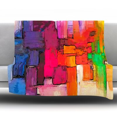 Interlace by Oriana Cordero Fleece Throw Blanket Size: 90 H x 90 W x 1 D