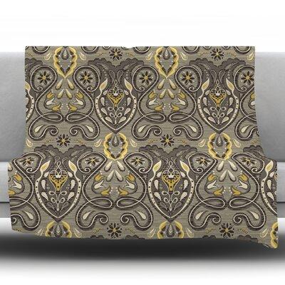Vintage Damask by Suzie Tremel Fleece Throw Blanket Size: 60 H x 50 W x 1 D