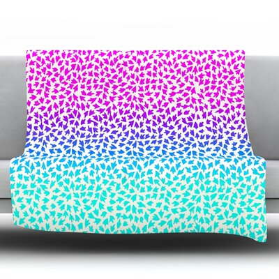 Ombre Arrows by Sreetama Ray Fleece Throw Blanket SR1027AFB01