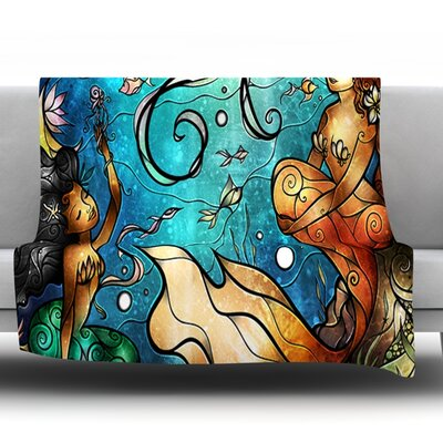 Under the Sea by Mandie Manzano Fleece Throw Blanket Size: 40 H x 30 W x 1 D