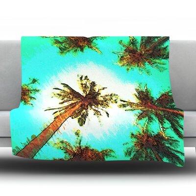 Paradise by Oriana Cordero Fleece Throw Blanket Size: 40 H x 30 W x 1 D