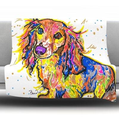 Leela by Rebecca Fischer Fleece Throw Blanket Size: 80 H x 60 W x 1 D