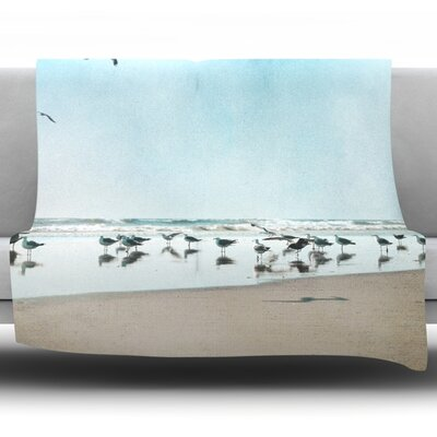 Sea by Sylvia Cook Fleece Throw Blanket Size: 90 H x 90 W x 1 D