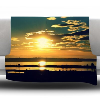 Conquer Your World by Robin Dickinson Fleece Throw Blanket Size: 40 H x 30 W x 1 D