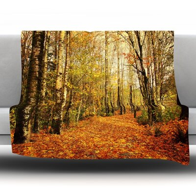 Autumn Leaves by Sylvia Cook Fleece Throw Blanket Size: 90 H x 90 W x 1 D