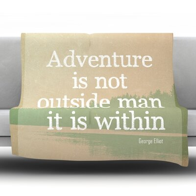 Adventure by Rachel Burbee Fleece Throw Blanket Size: 90 H x 90 W x 1 D