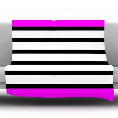 Sest Redaka by Trebam Fleece Throw Blanket Color: Pink/White, Size: 60 H x 50 W x 1 D