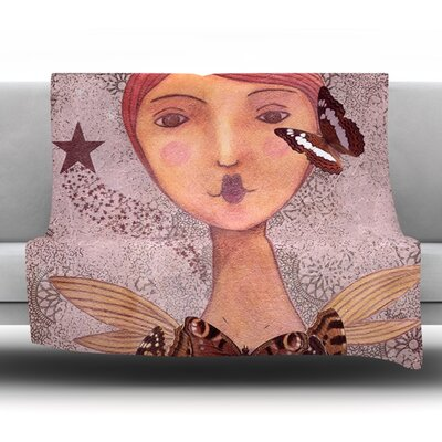 Prudence by Suzanne Carter Fleece Throw Blanket Size: 40 H x 30 W x 1 D