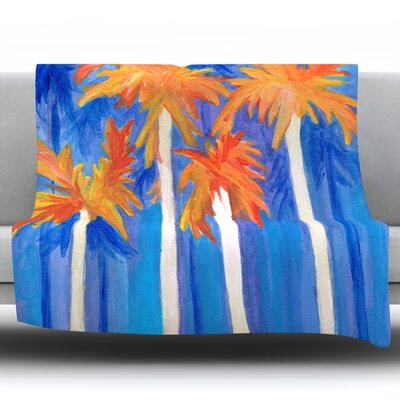 Florida Autumn by Rosie Fleece Throw Blanket Size: 60 H x 50 W x 1 D