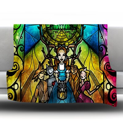 Wizard of Oz by Mandie Manzanor Fleece Throw Blanket Size: 40 H x 30 W x 1 D