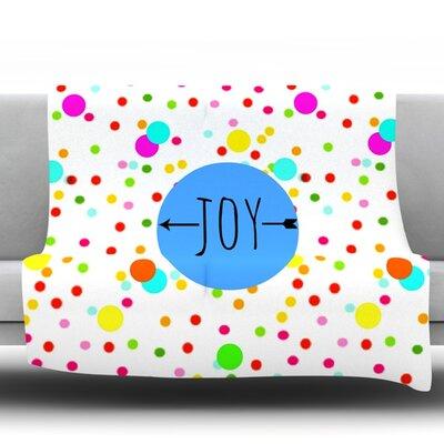 Oh Joy by Sreetama Ray Fleece Throw Blanket Size: 60 H x 50 W x 1 D
