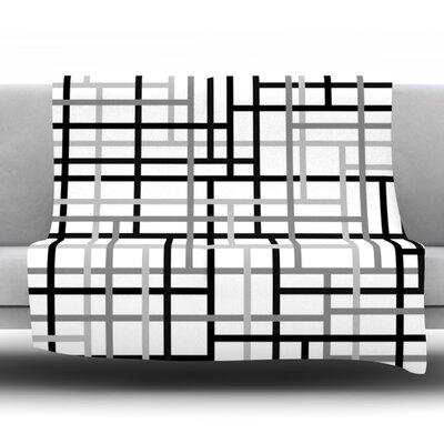 Veza V by Trebam Fleece Throw Blanket Size: 80 H x 60 W x 1 D