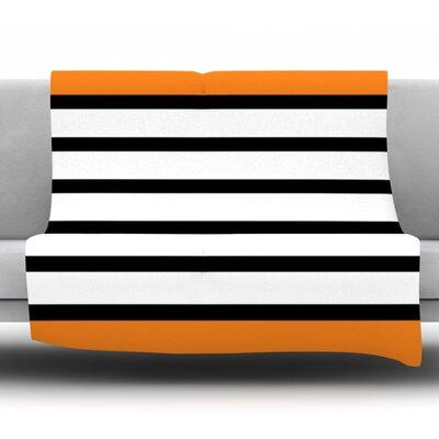 Sest Redaka by Trebam Fleece Throw Blanket Size: 90 H x 90 W x 1 D, Color: Orange