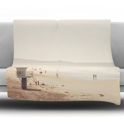 Beach Day by Myan Soffia Fleece Throw Blanket Size: 90 H x 90 W x 1 D