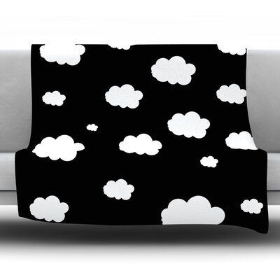 Clouds by Suzanne Carter Fleece Throw Blanket Size: 40 H x 30 W x 1 D
