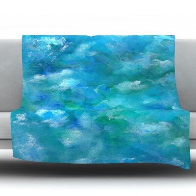 Ocean Waters by Rosie Fleece Throw Blanket Size: 90 H x 90 W x 1 D