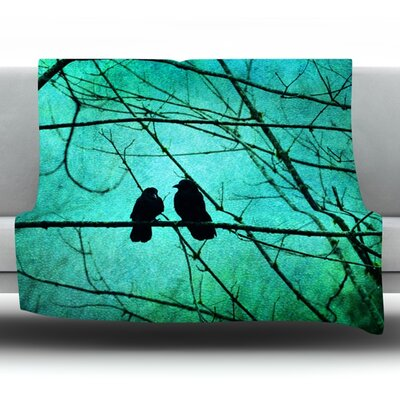 Smitten by Robin Dickinson Fleece Throw Blanket Size: 80 H x 60 W x 1 D