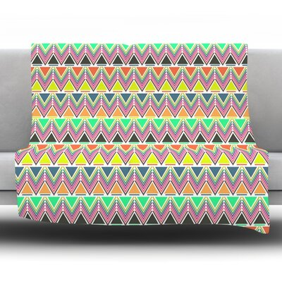 Pattern Play Multi by Nandita Singh Fleece Throw Blanket Size: 40 H x 30 W x 1 D