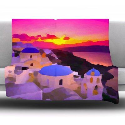 My Konos by Oriana Cordero Fleece Throw Blanket Size: 40 H x 30 W x 1 D