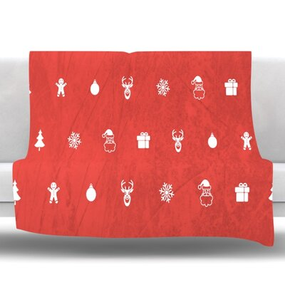 Cheery by Snap Studio Fleece Throw Blanket Size: 80 H x 60 W x 1 D, Color: Red