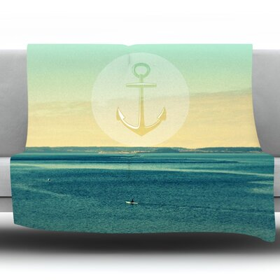 Row Your Own Boat by Robin Dickinson Fleece Throw Blanket Size: 90 H x 90 W x 1 D
