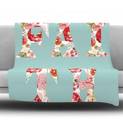 Faith by Suzanne Carter Fleece Throw Blanket Size: 60 H x 50 W x 1 D