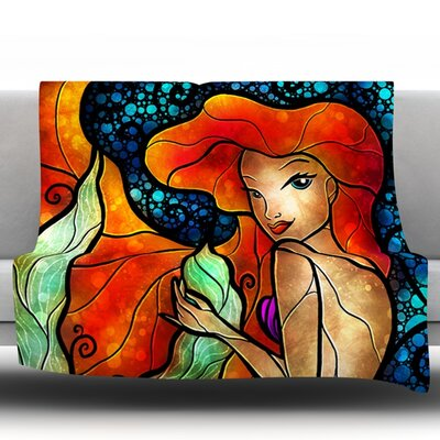 Ariel by Mandie Manzano Fleece Throw Blanket Size: 60 H x 50 W x 1 D