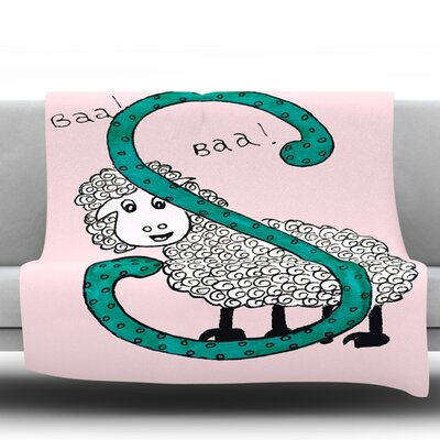 Sis for Sheep by Rosie Fleece Throw Blanket Size: 90 H x 90 W x 1 D, Color: Pink