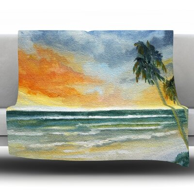 End of Day by Rosie Fleece Throw Blanket Size: 80 H x 60 W x 1 D