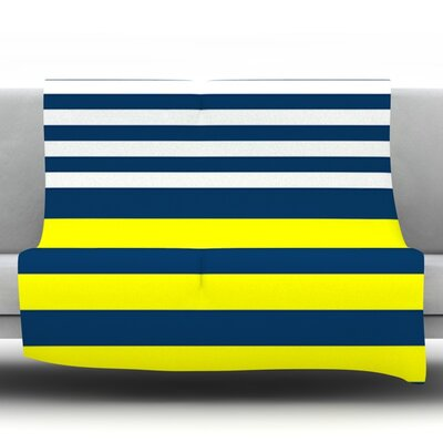 Nauticki by Trebam Fleece Throw Blanket Size: 80 H x 60 W x 1 D