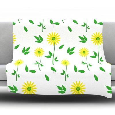 Daisy by Louise Fleece Throw Blanket Size: 90 H x 90 W x 1 D